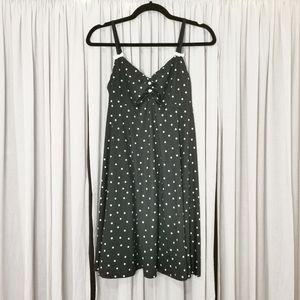La Vie En Rose Black and white polka dot nightie